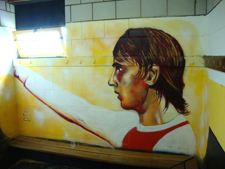 Football Graffiti Johan Cruijff  C B Footballgraffiti Johancruijff