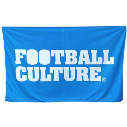 voetbal blauwe vlag